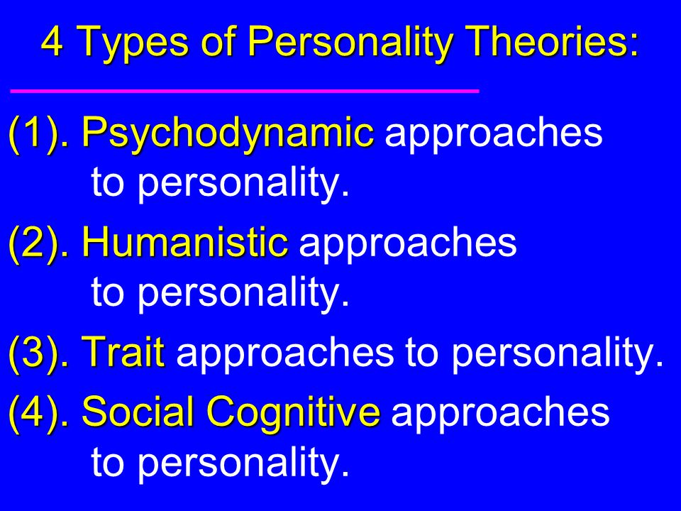 Personality Types Freud