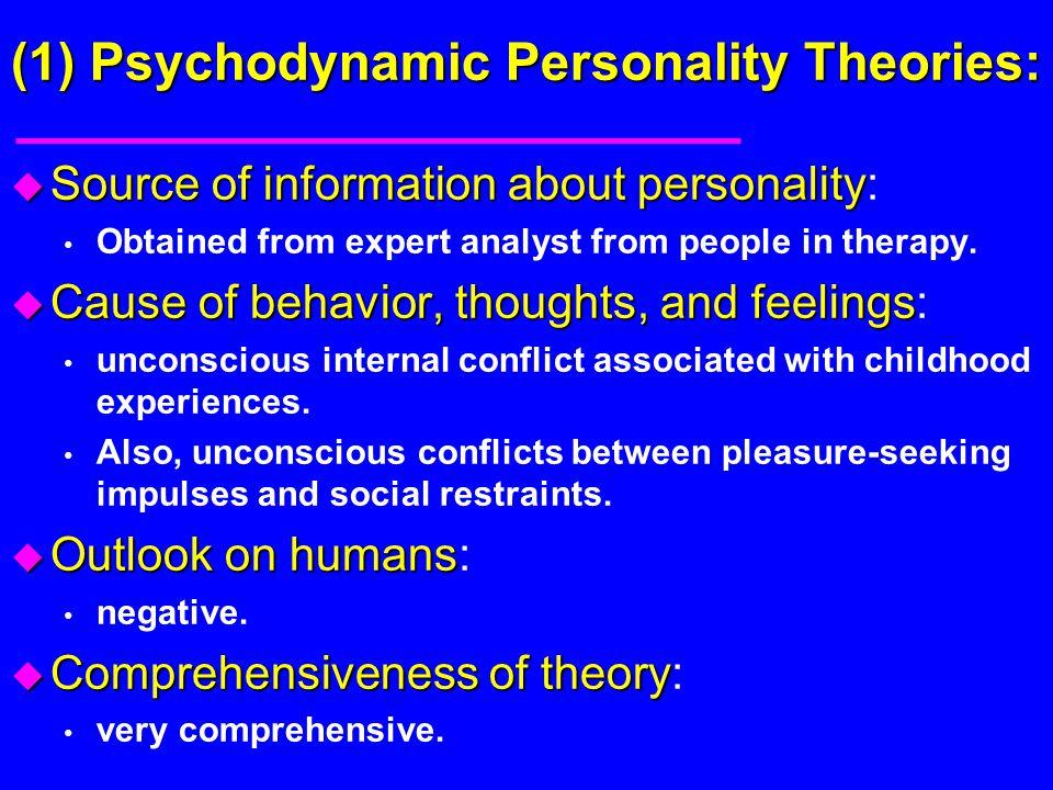 (1) Psychodynamic Personality Theories: