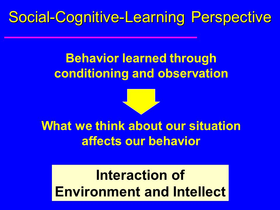 cognitive term of behaviour