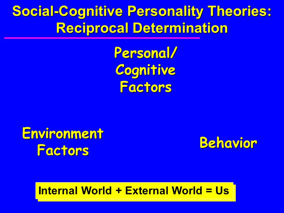Social-Cognitive Personality Theories: Reciprocal Determination