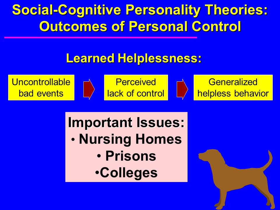 Social-Cognitive Personality Theories: Outcomes of Personal Control