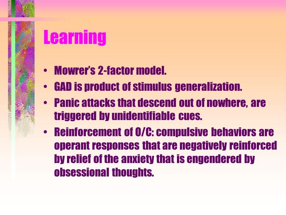 Learning Mowrer's 2-factor model.