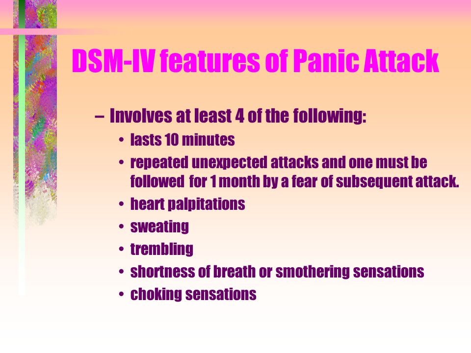 DSM-IV features of Panic Attack