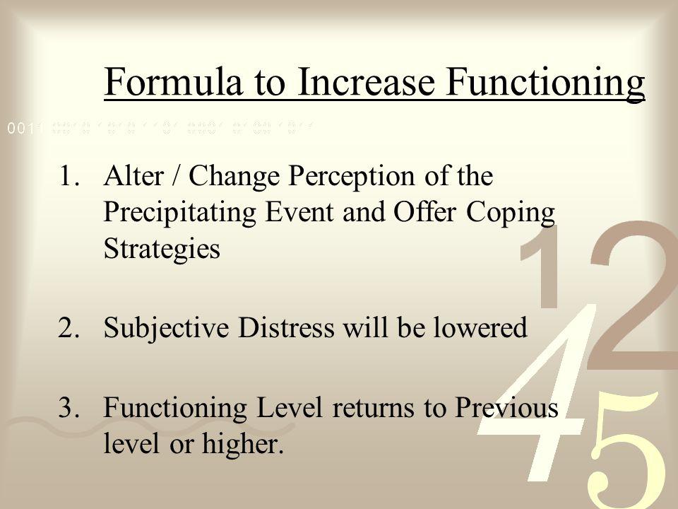 Formula to Increase Functioning