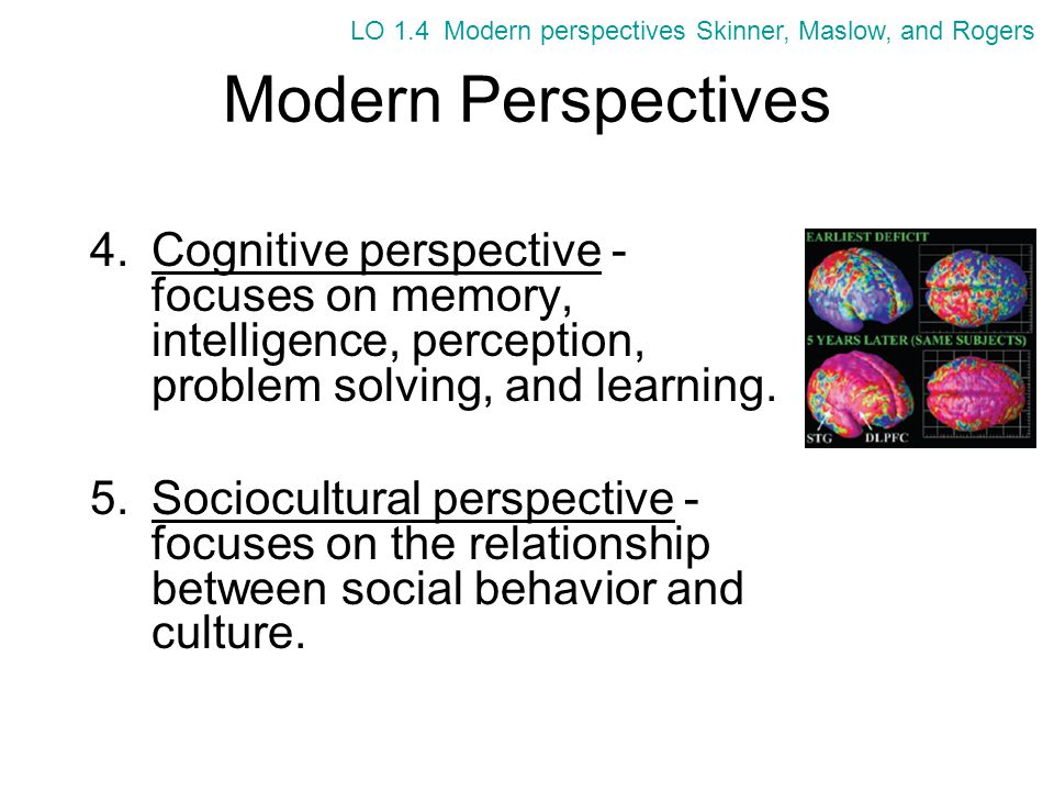 LO 1.4 Modern perspectives Skinner, Maslow, and Rogers
