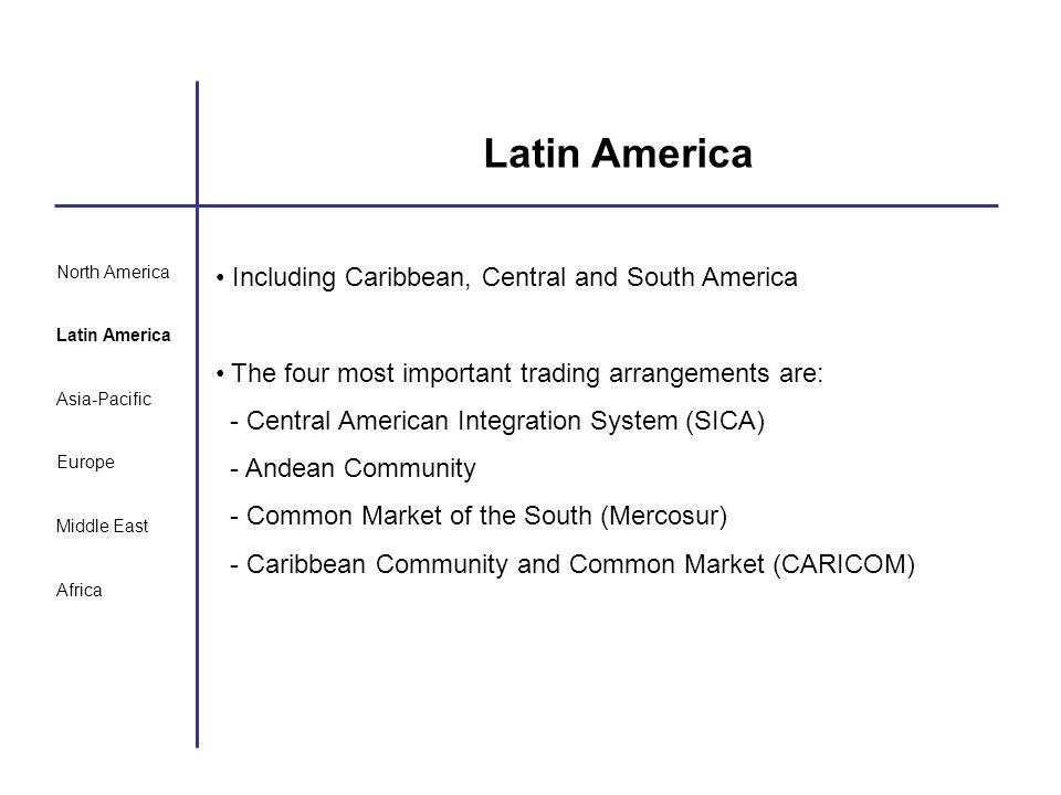 Latin America Including Caribbean, Central and South America