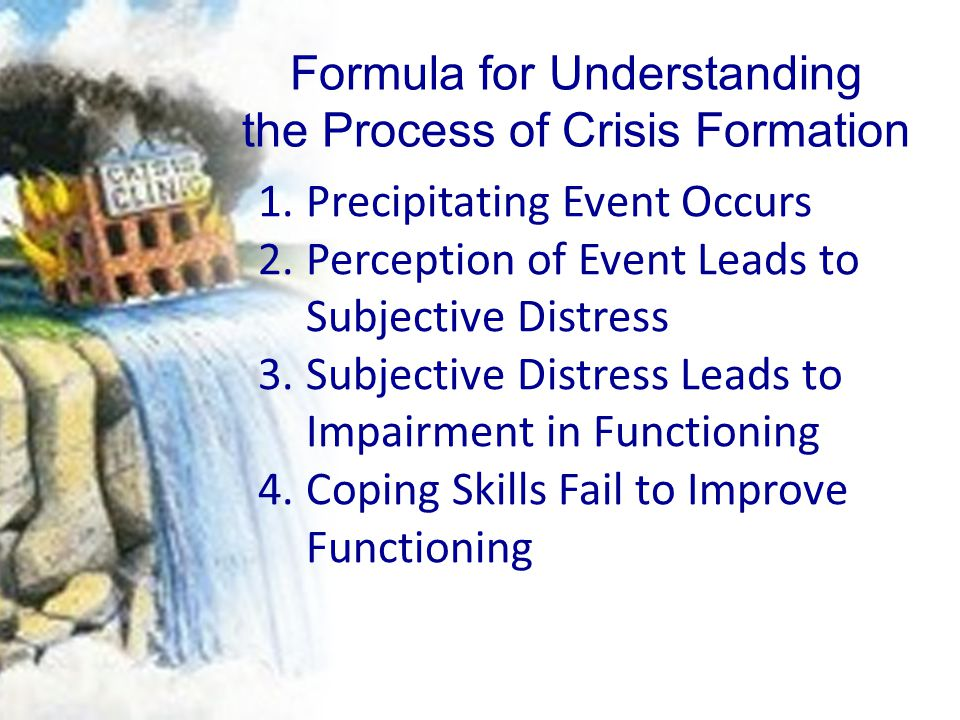 Formula for Understanding the Process of Crisis Formation