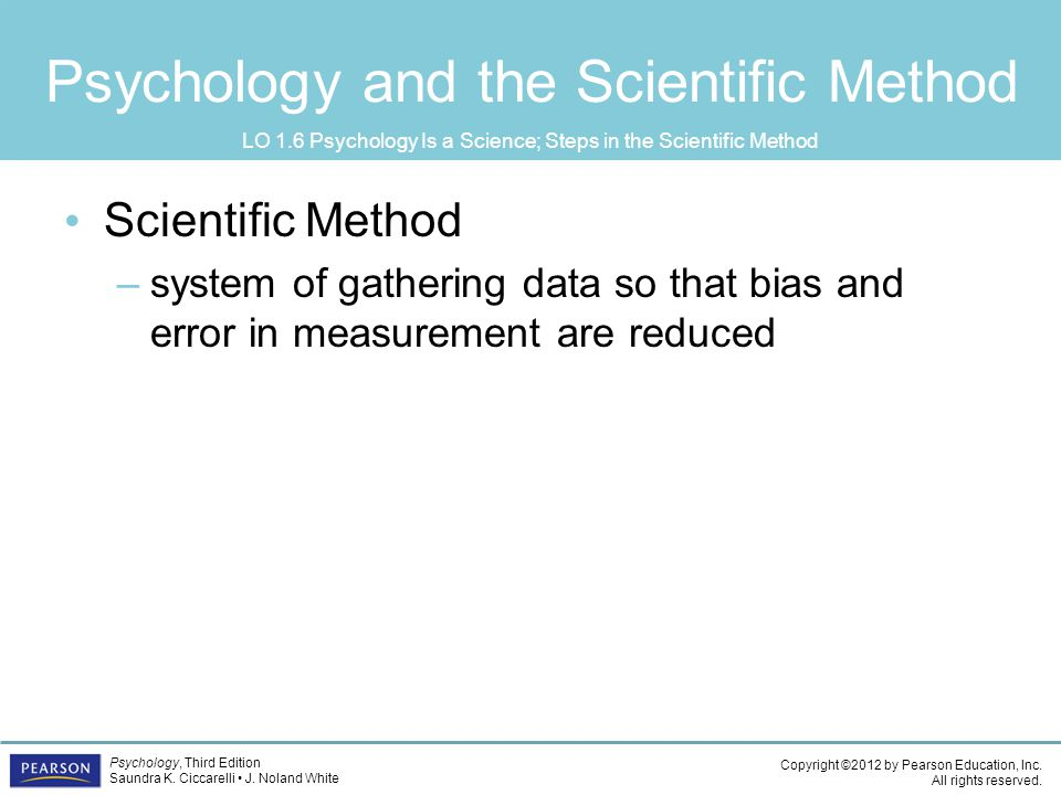 Psychology and the Scientific Method