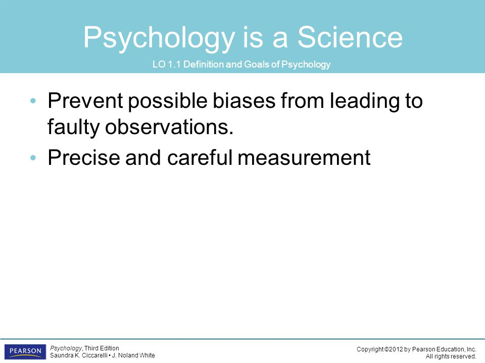Psychology is a Science