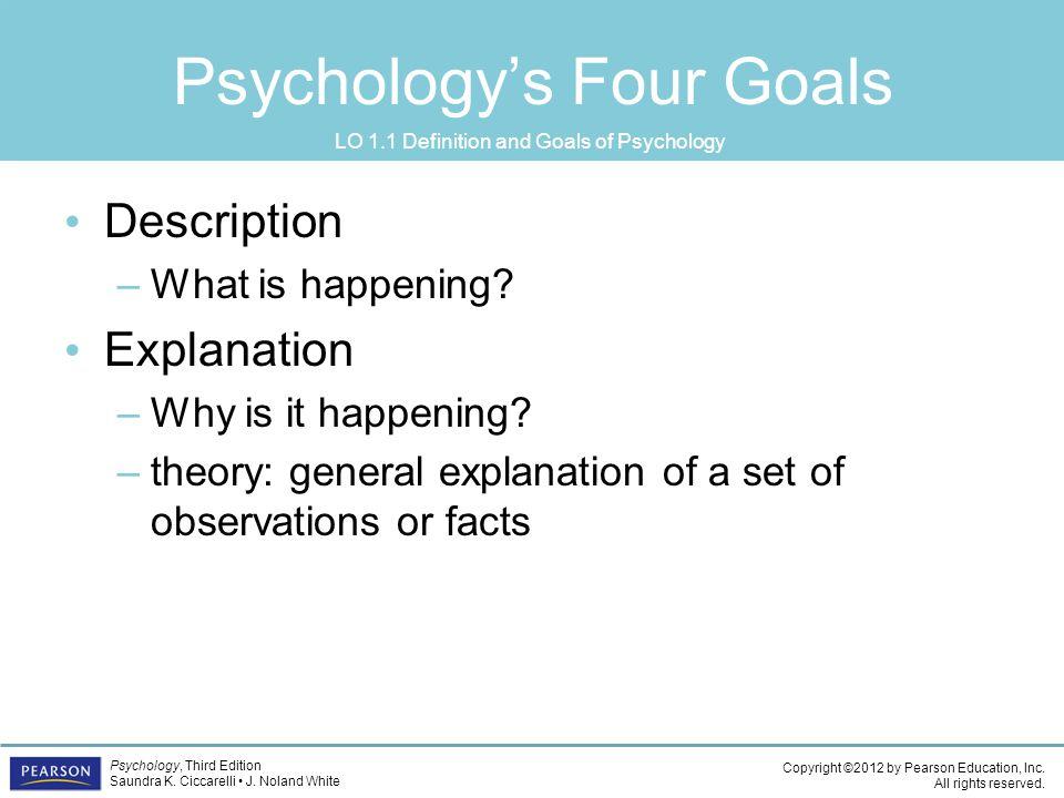 Psychology's Four Goals