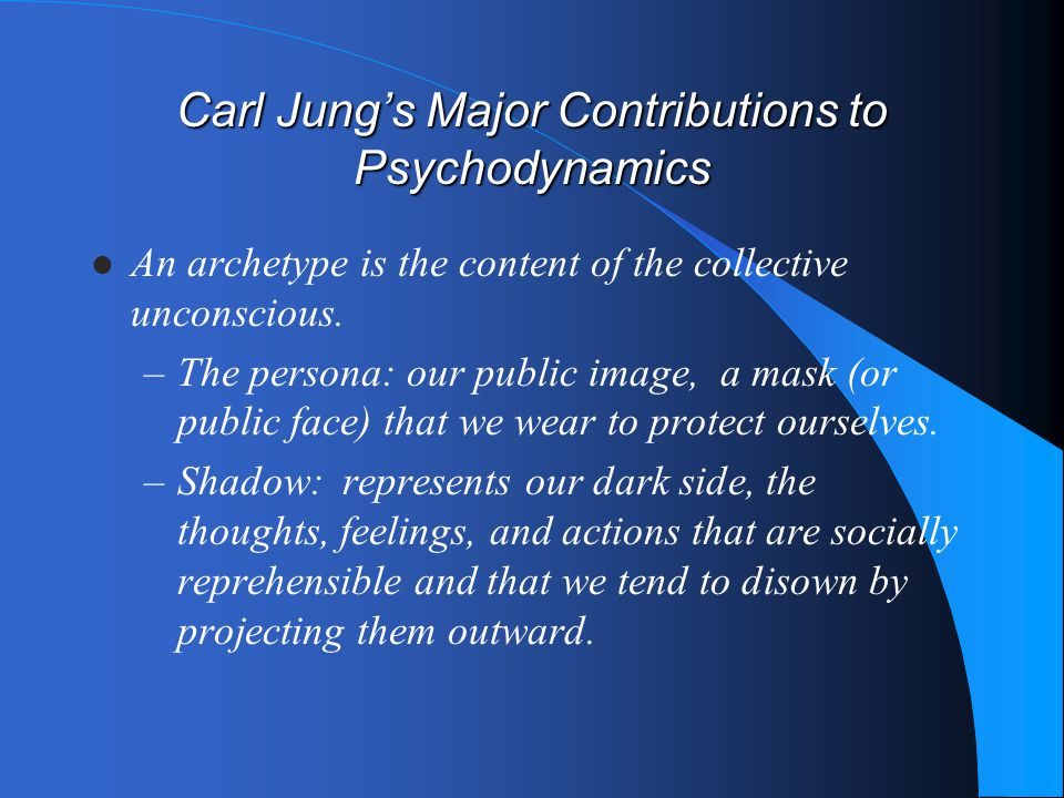 Carl Jung's Major Contributions to Psychodynamics