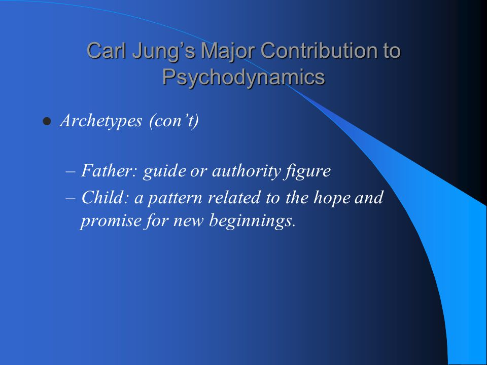 Carl Jung's Major Contribution to Psychodynamics