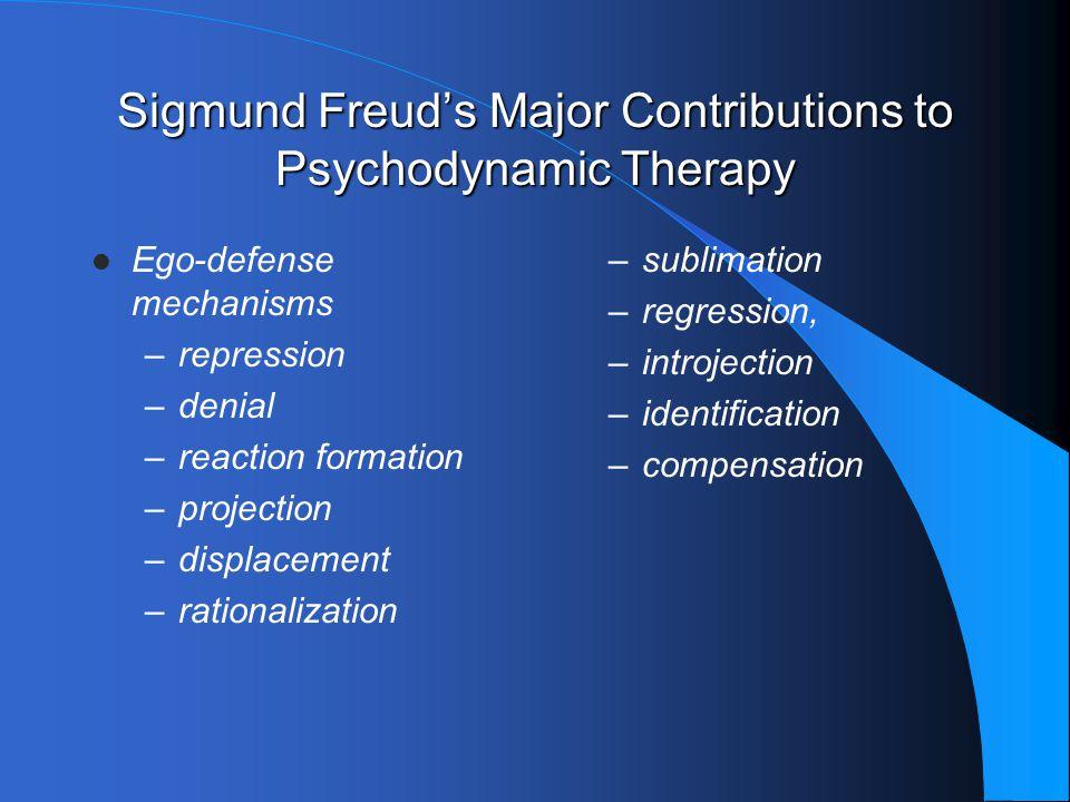 Sigmund Freud's Major Contributions to Psychodynamic Therapy