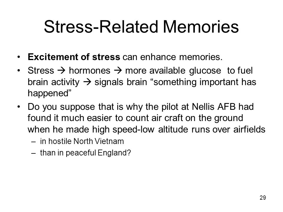 Stress-Related Memories