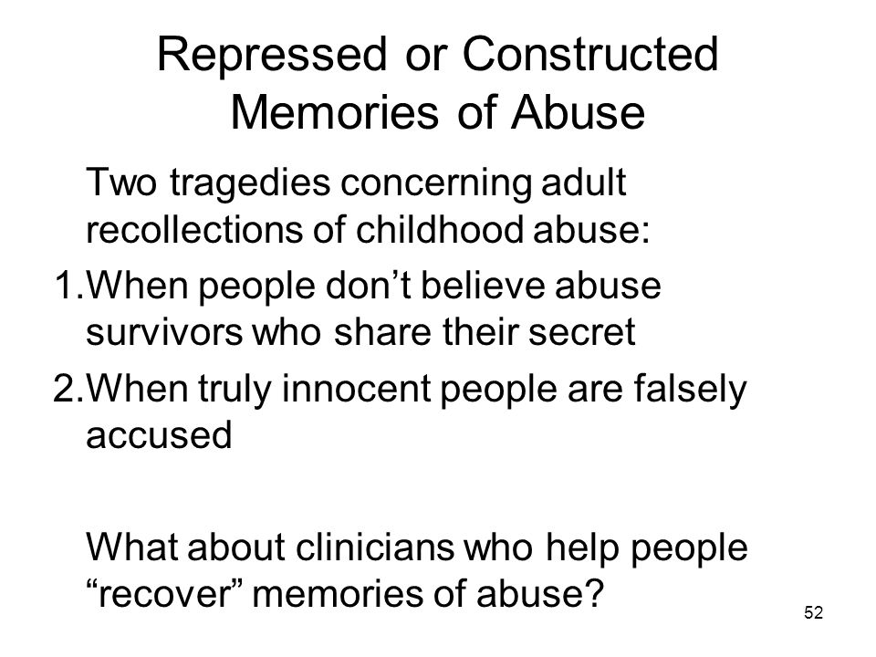 abuse from journey memory recovery repressed sexual