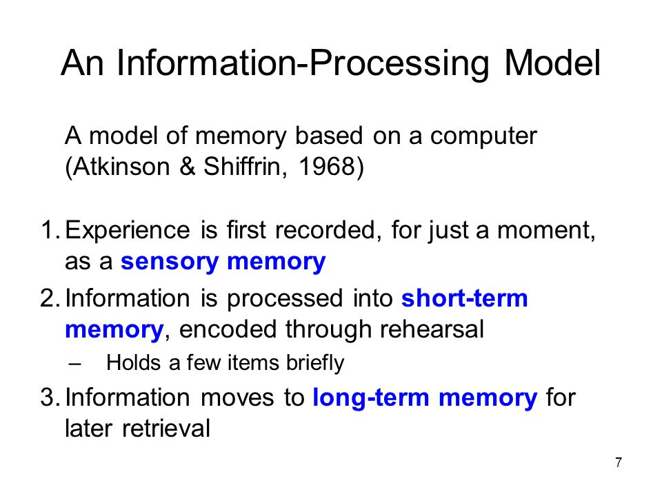 An Information-Processing Model