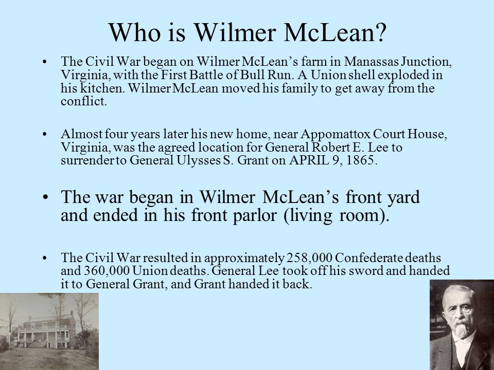 Who is Wilmer McLean