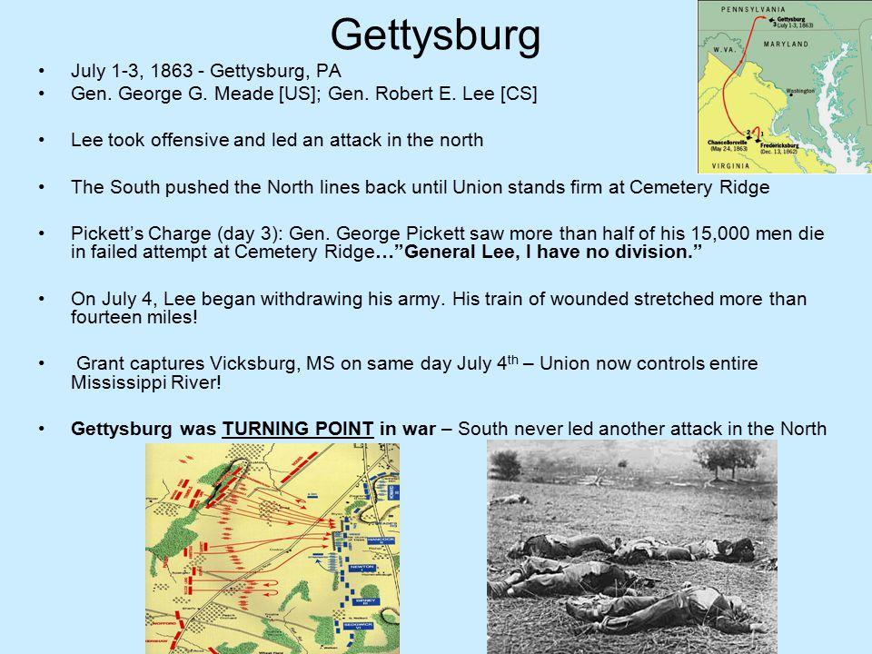 Gettysburg July 1-3, 1863 - Gettysburg, PA