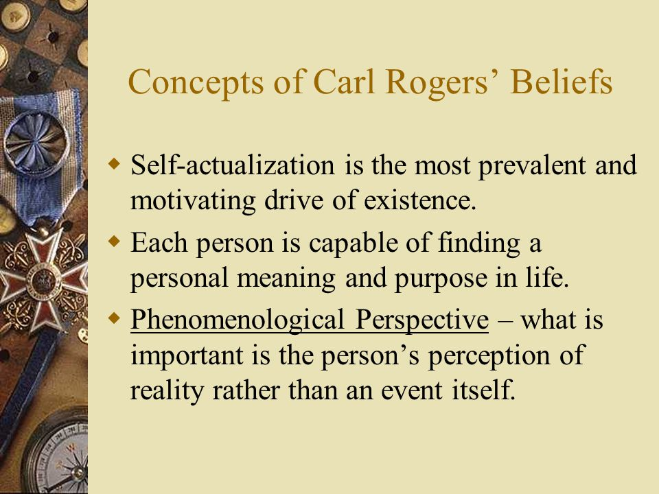 Concepts of Carl Rogers' Beliefs