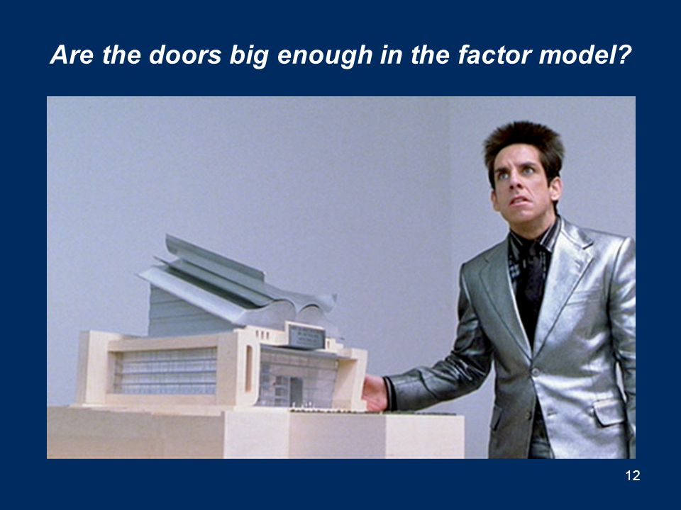Are the doors big enough in the factor model