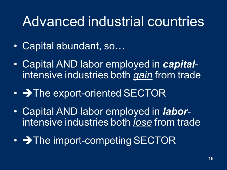 Advanced industrial countries