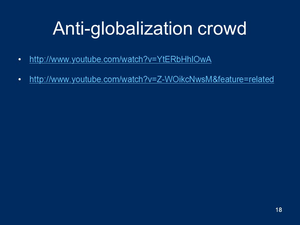Anti-globalization crowd