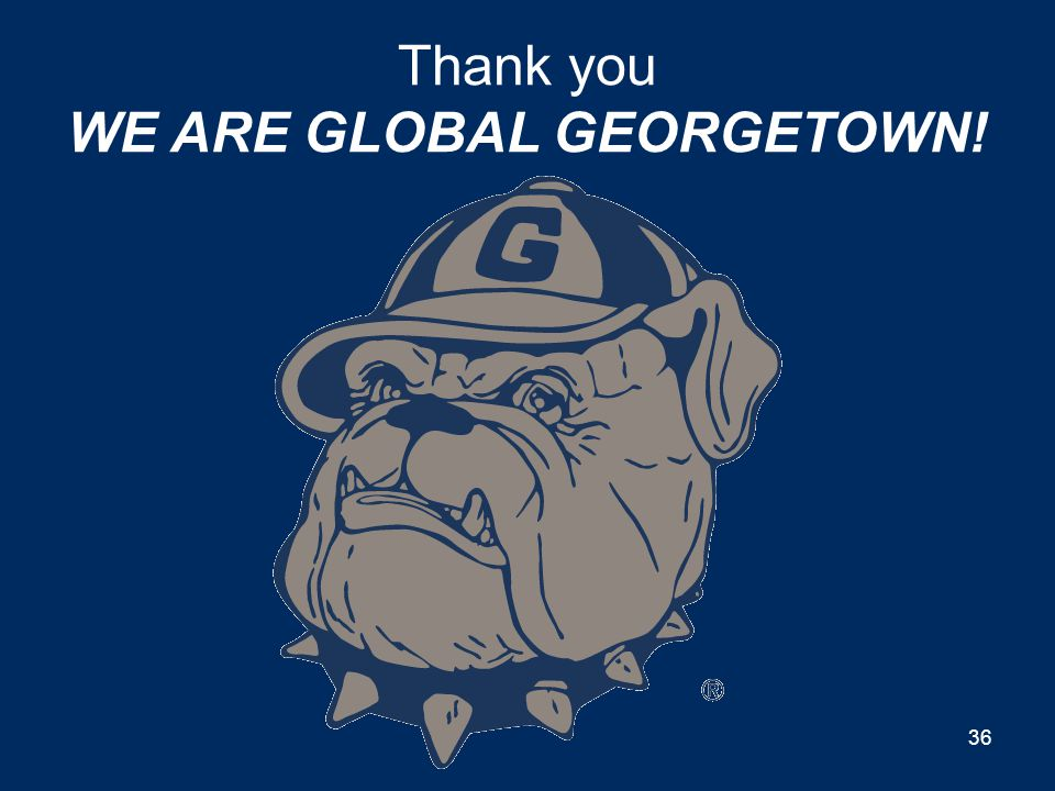 Thank you WE ARE GLOBAL GEORGETOWN!
