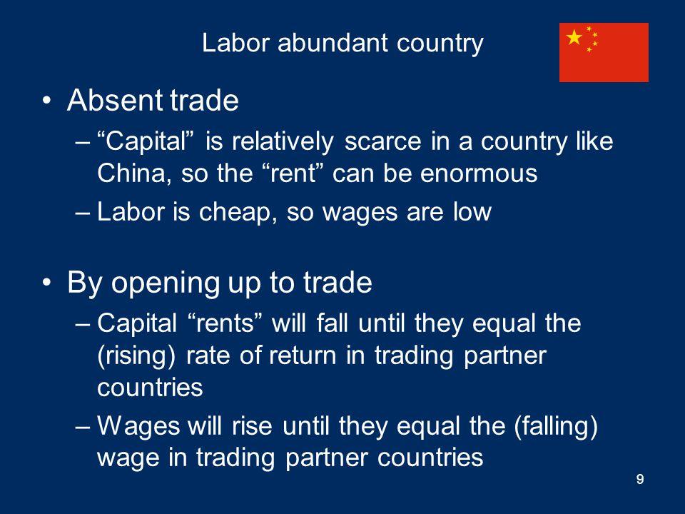 Labor abundant country