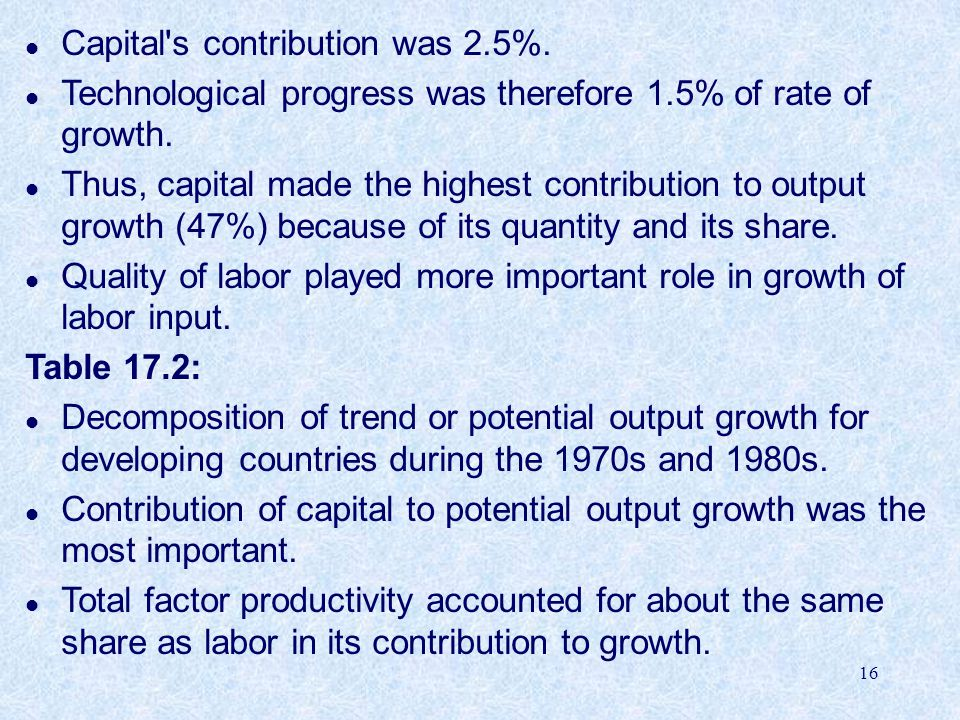 Capital s contribution was 2.5%.