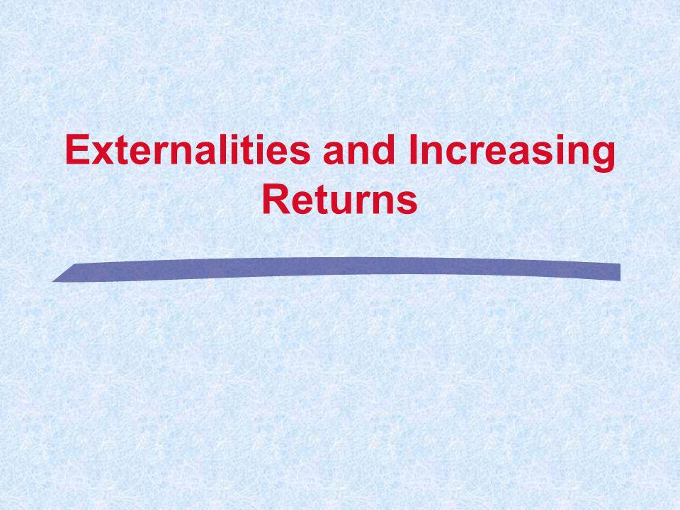Externalities and Increasing Returns