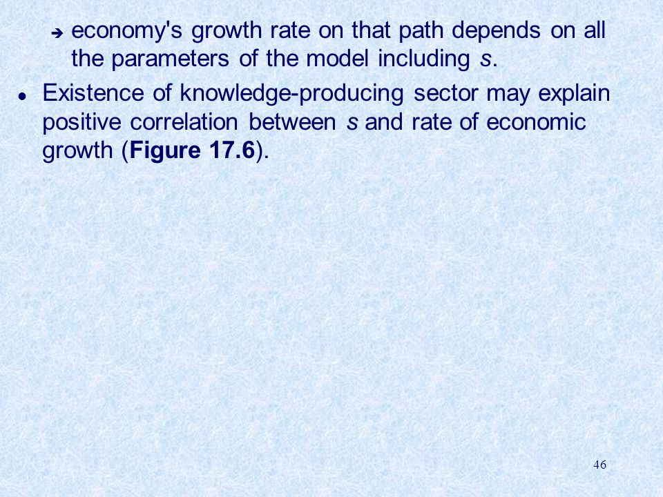 economy s growth rate on that path depends on all the parameters of the model including s.