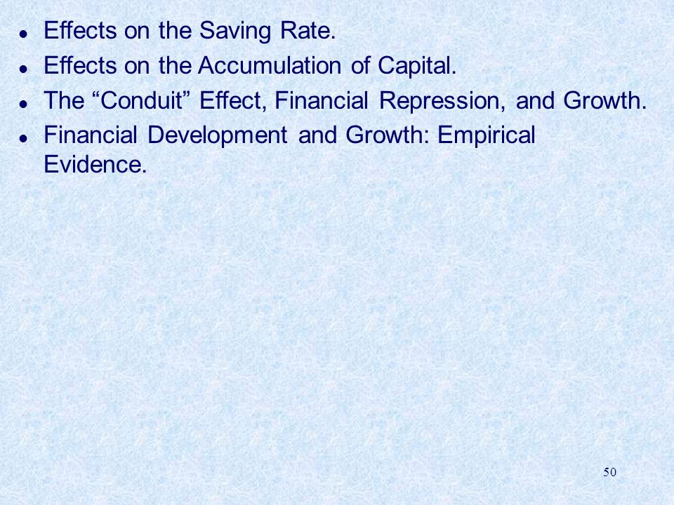 Effects on the Saving Rate.