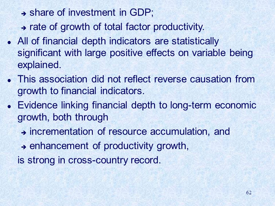 share of investment in GDP;
