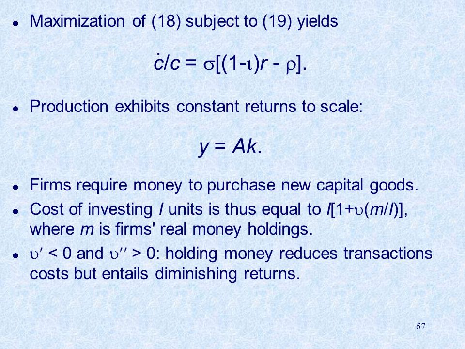 Maximization of (18) subject to (19) yields