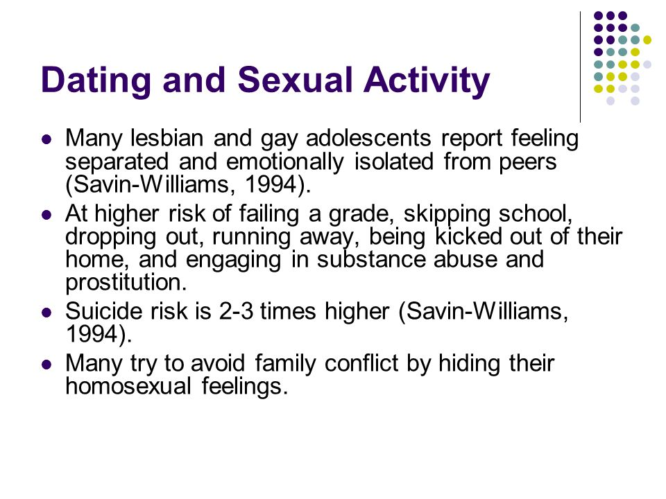 Dating and Sexual Activity