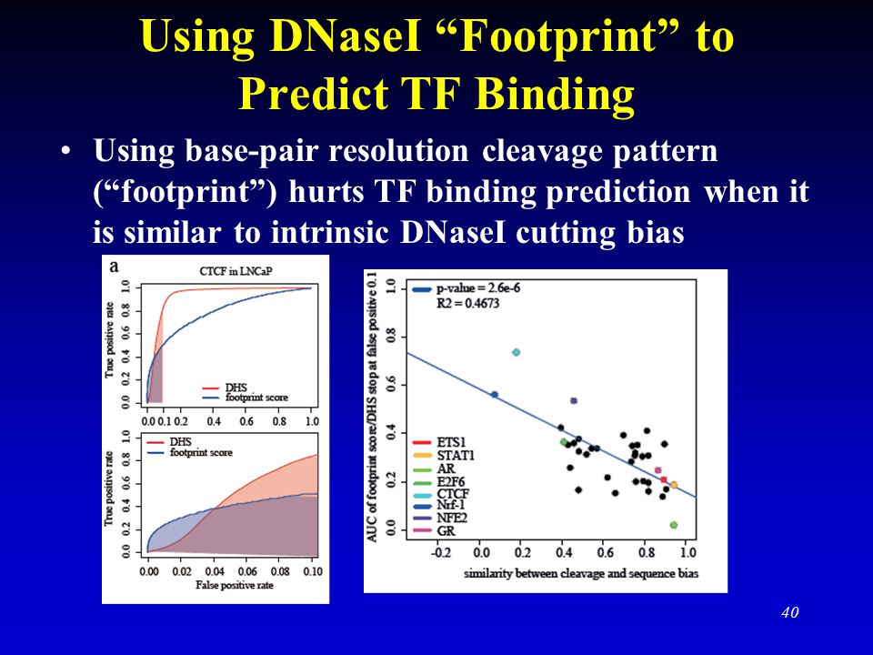 Using DNaseI Footprint to Predict TF Binding