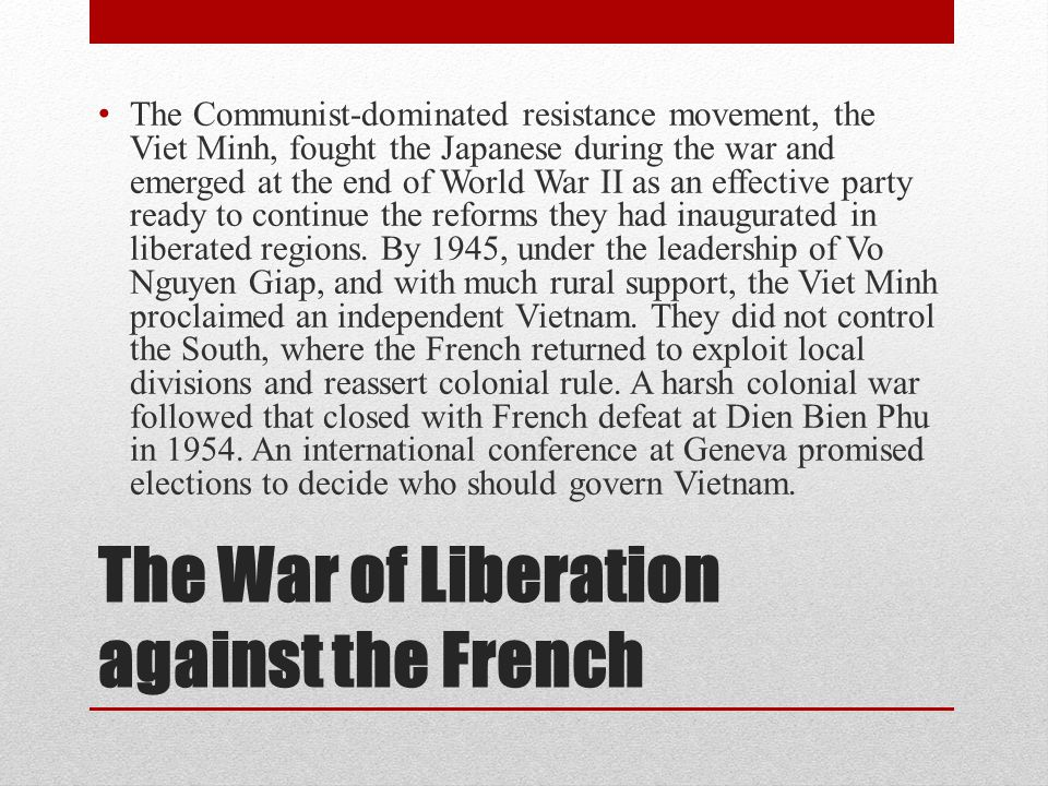 The War of Liberation against the French