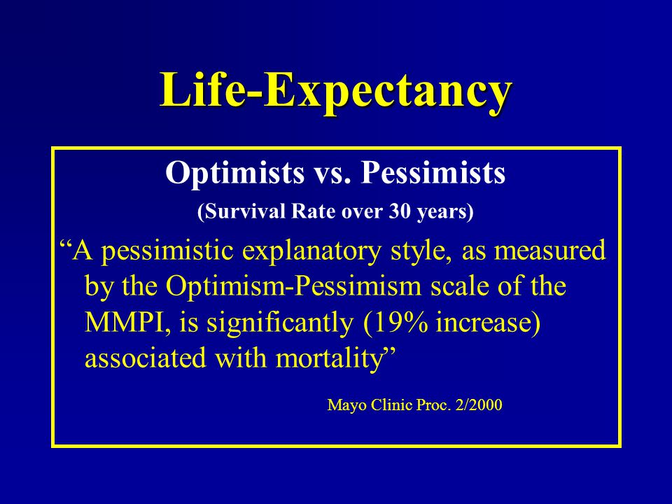 Optimists vs. Pessimists