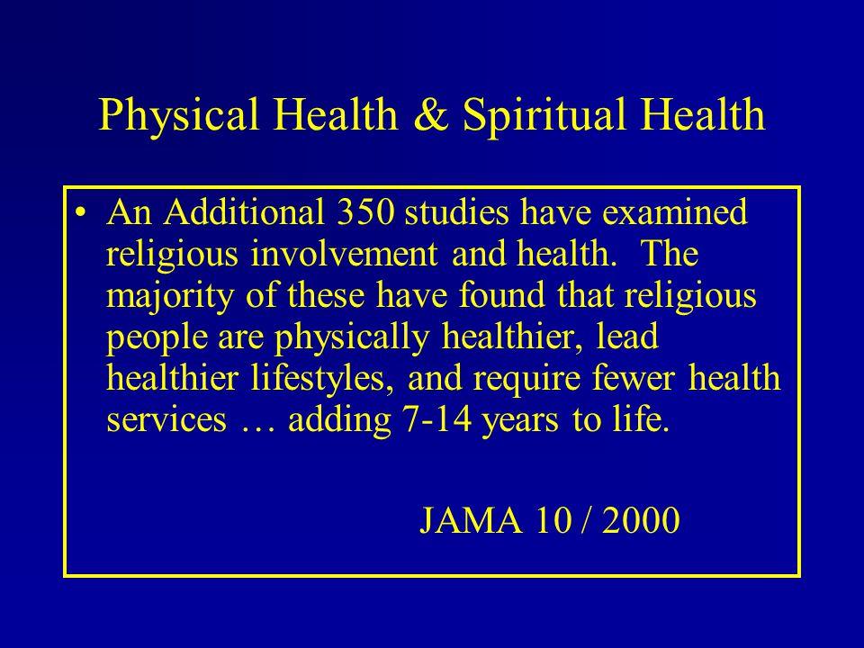 Physical Health & Spiritual Health