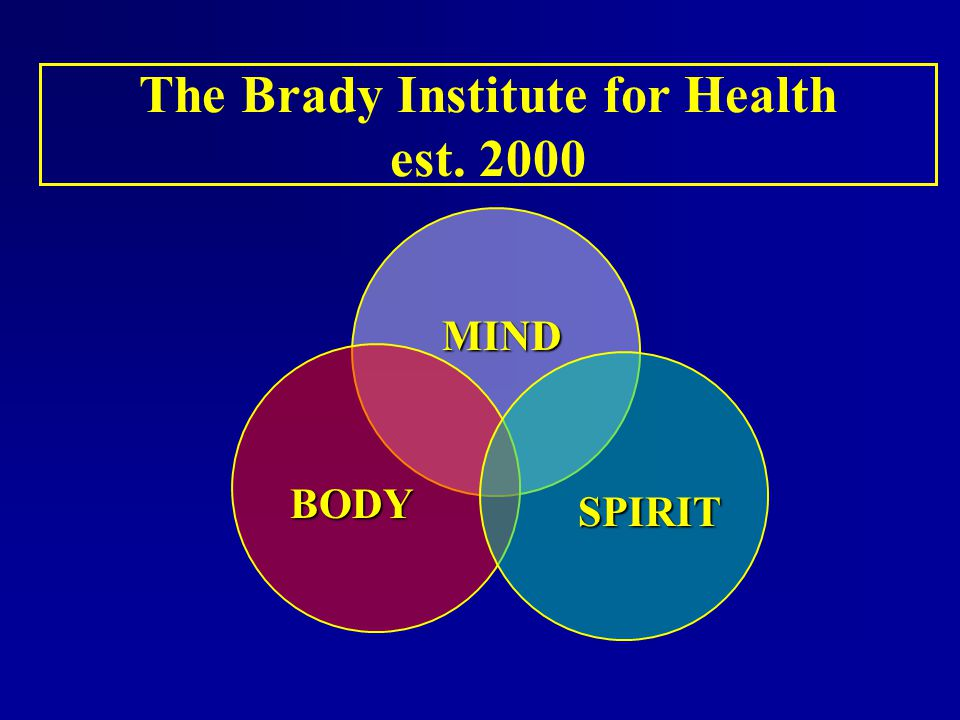 The Brady Institute for Health est. 2000