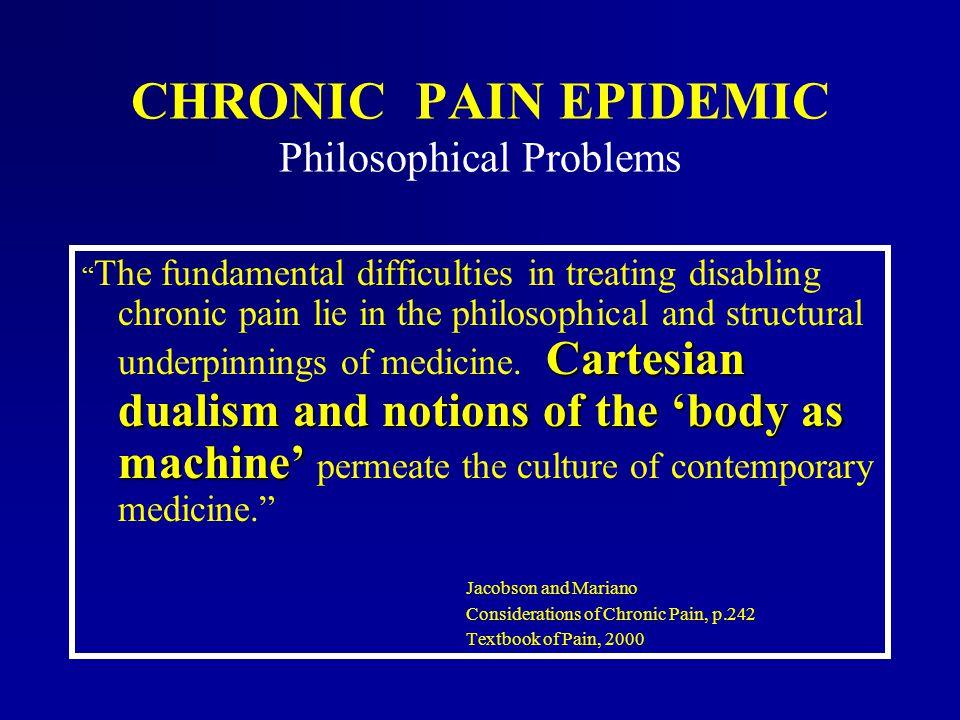 CHRONIC PAIN EPIDEMIC Philosophical Problems