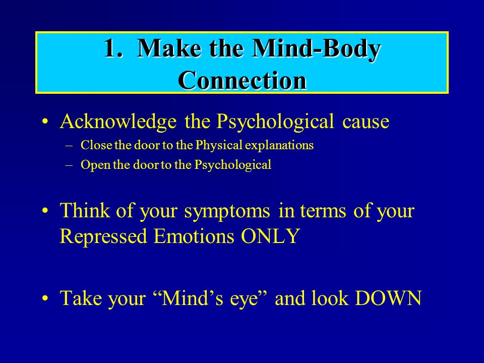 1. Make the Mind-Body Connection