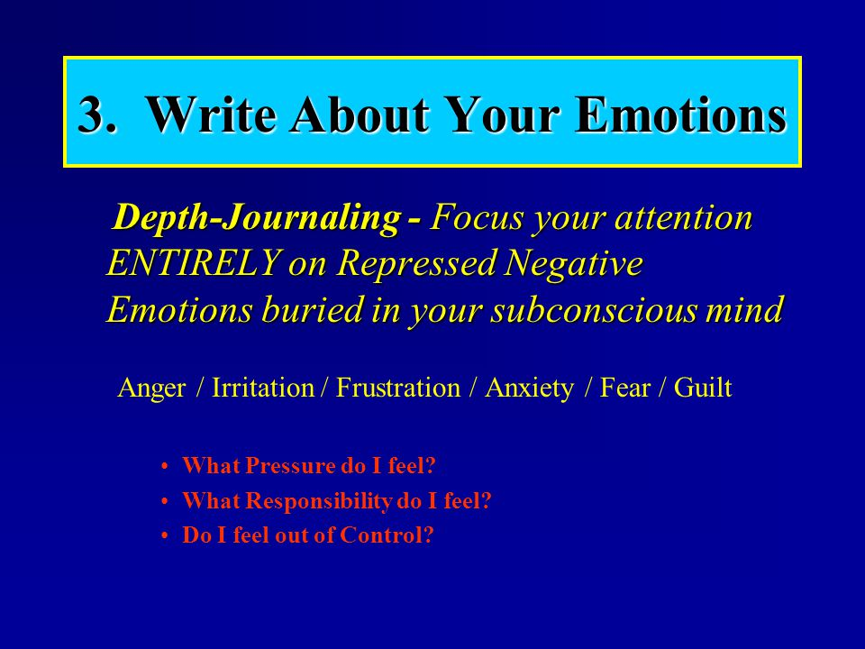 3. Write About Your Emotions