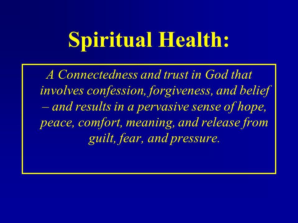 Spiritual Health:
