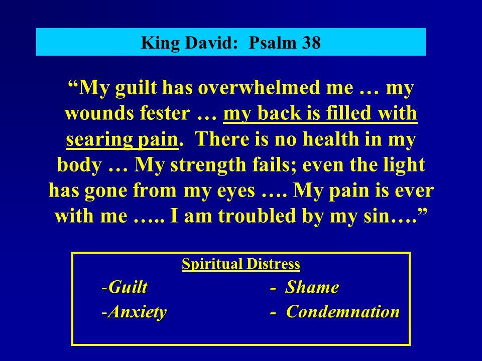 Spiritual Distress Guilt - Shame Anxiety - Condemnation