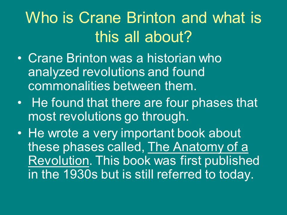 Who is Crane Brinton and what is this all about