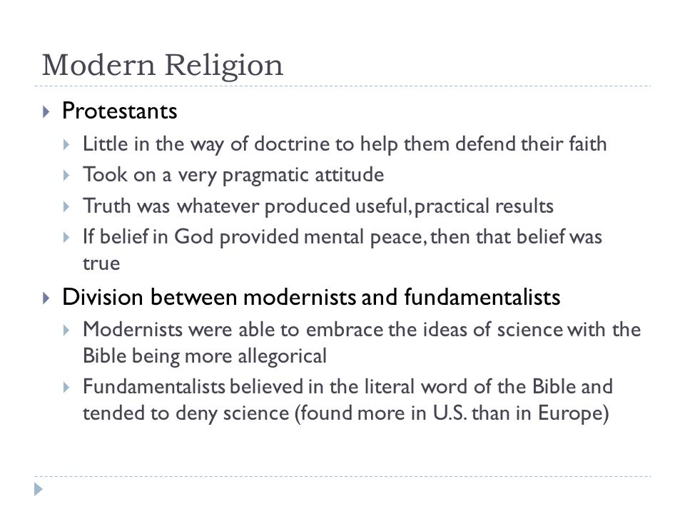 Modern Religion Protestants
