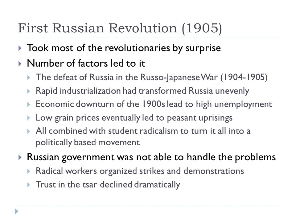 First Russian Revolution (1905)