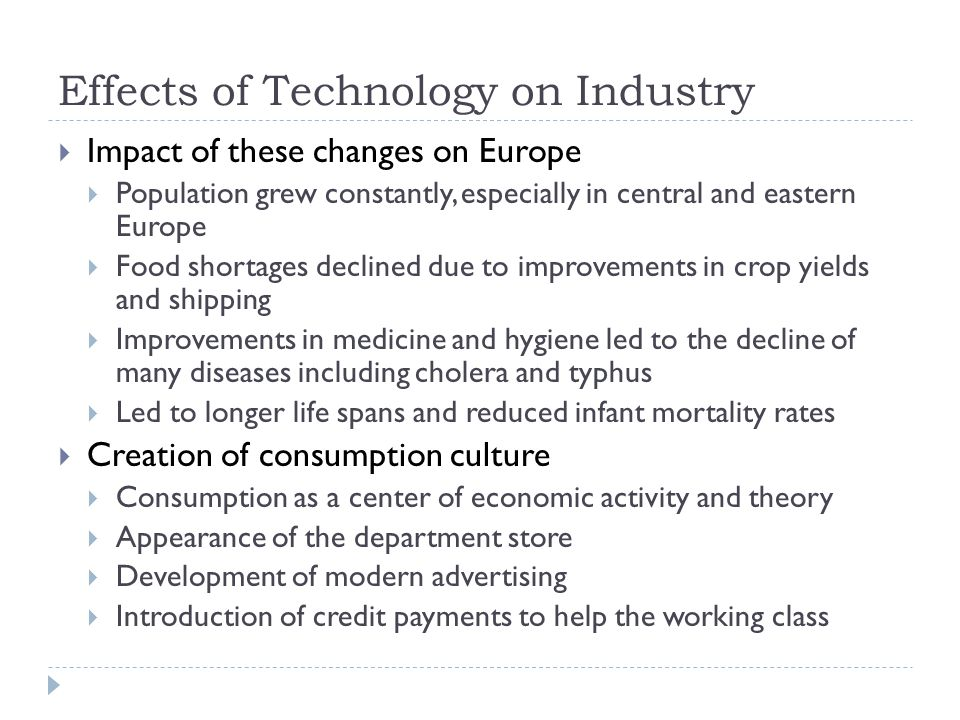 Effects of Technology on Industry