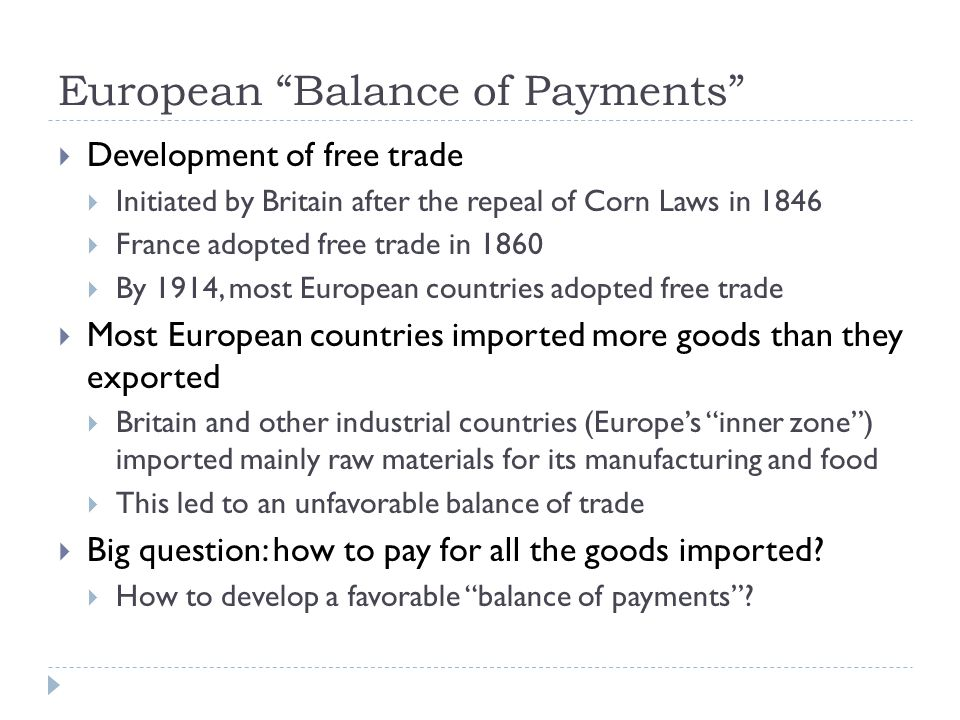 European Balance of Payments